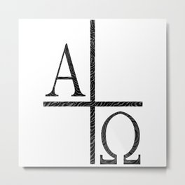 Alpha Omegs Icon Image Metal Print