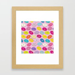 Donuts Pink Dreams Framed Art Print