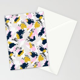 Strokes and abstract textures Stationery Cards