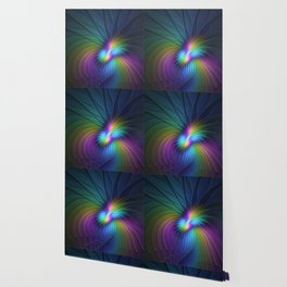 Colorful and Luminous, Abstract Fractals Art Wallpaper
