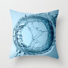 Water Splash 1 Throw Pillow