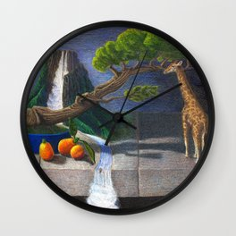 Still Life With Kumquats and Giraffe Wall Clock