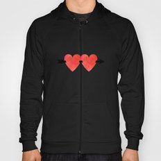 Two hearts pierced with one arrow Hoody
