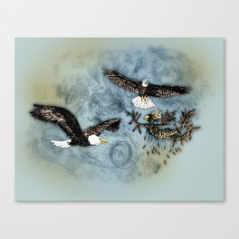 Calling Eagle Canvas Print