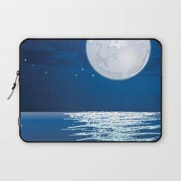 Moonlit path on the sea Laptop Sleeve