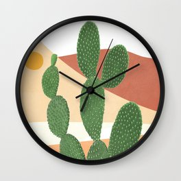 Abstract Cactus II Wall Clock