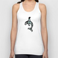 killer whale Tank Tops featuring Blue and Black Haida Spirit Killer Whale by Jeff Bartels