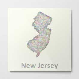 New Jersey map Metal Print
