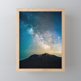 Milky Way at Mt. St. Helens Volcano Framed Mini Art Print