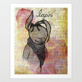 Lapin (Bunny) Art Print