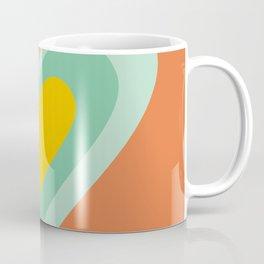 Three hearts on orange Coffee Mug