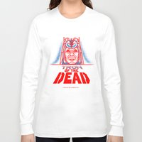 tron Long Sleeve T-shirts featuring Tron of the dead by Gimetzco's Damaged Goods