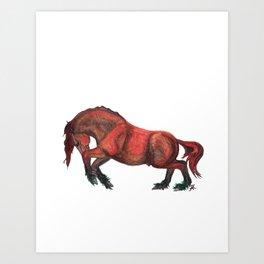 Earth Horse Art Print