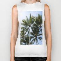 palms Biker Tanks featuring Palms by Brandon La'akea