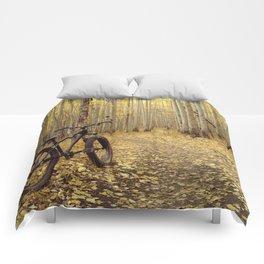 Golden Aspen Mountain Biking Comforters