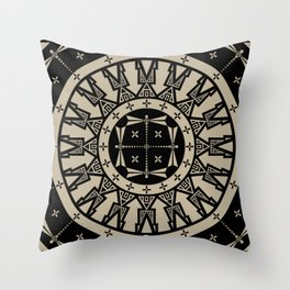 Ancestors (Black Gray) Throw Pillow