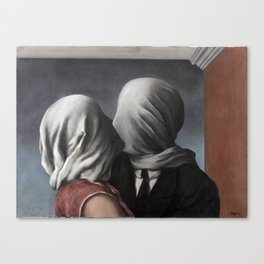 The Lovers II (Les Amants) 1928, Artwork Rene Magritte For Prints, Posters, Shirts, Bags Men Women K Canvas Print