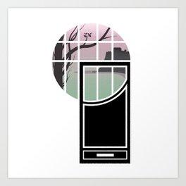 WINDOWS 004: THE CLIFFS Art Print