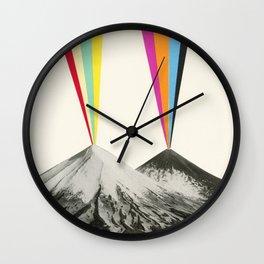 Volcanos Wall Clock