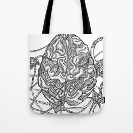 Neurons & Brain Tote Bag