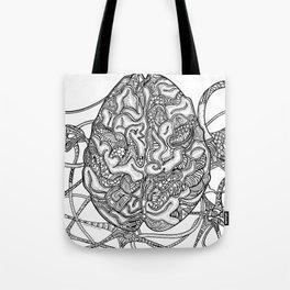 Neurons & Brain Tote Bag