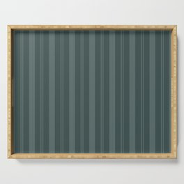 Juniper Berry Green PPG1145-6 Thick & Thin Vertical Stripes on Night Watch PPG1145-7 Serving Tray