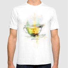 Green tea SMALL White Mens Fitted Tee
