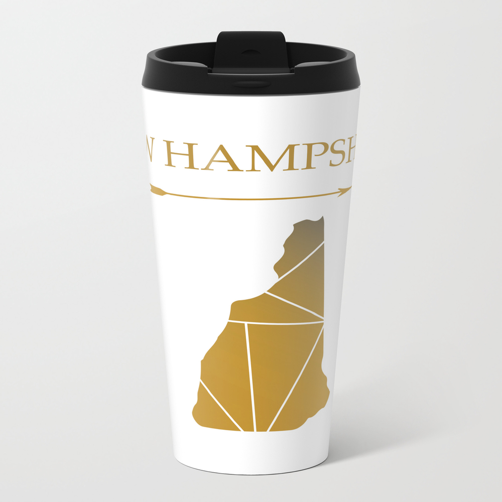 New Hampshire In Gold Travel Mug TRM7655812