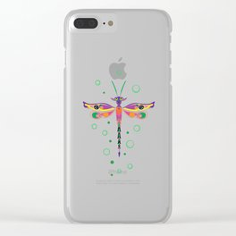 Dragon Fly Clear iPhone Case