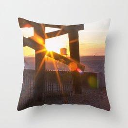 Beachy Sunset Throw Pillow