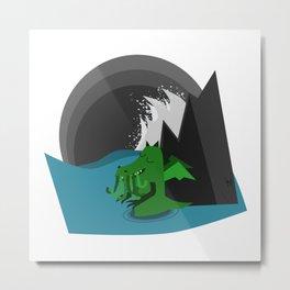 Cthulhu-Kobold Metal Print