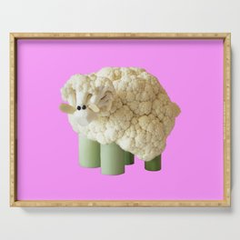 pink sheep Serving Tray
