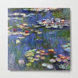 Claude Monet Water Lilies III Metal Print