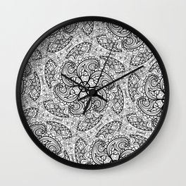 Intricate geometrical repeated patterns Wall Clock