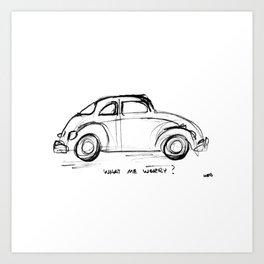 Bug - What Me Worry? Art Print