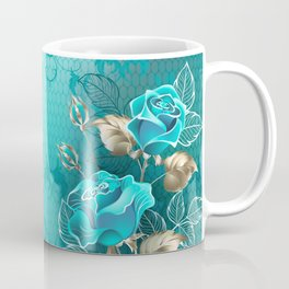 Composition with Turquoise Roses Coffee Mug