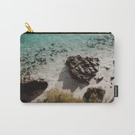 Clear water in a lonely beach Carry-All Pouch