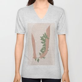 Holding on to a Branch Unisex V-Neck