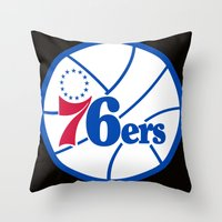 nba Throw Pillows featuring NBA - 76ers by Katieb1013