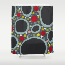 Untitled, abstract black Shower Curtain