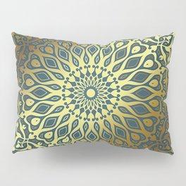 Blue Golden Mandala Pillow Sham