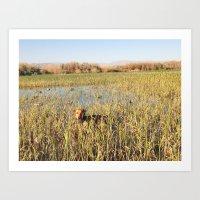 hunting Art Prints featuring HUNTING by blake allan