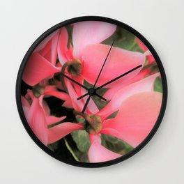 cyclamen Wall Clock