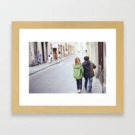 Kid Couple - Florence, Italy Framed Art Print