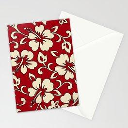 Malia Hawaiian Hibiscus Aloha Shirt Print Stationery Cards