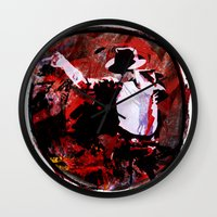 boxing Wall Clocks featuring Boxing MJ by Genco Demirer
