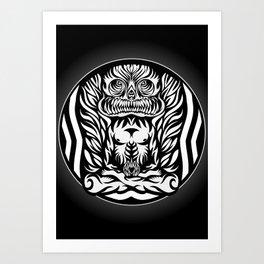 Illustration Demon in the lotus position Art Print