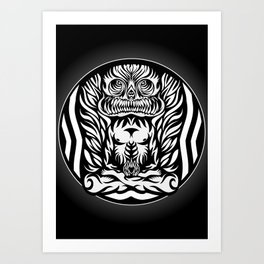 Illustration Demon in the lotus position Art Print
