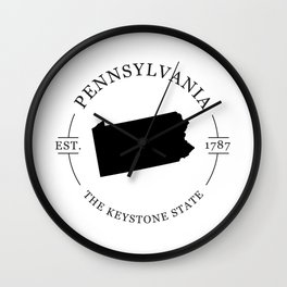 Pennsylvania - The Keystone State Wall Clock