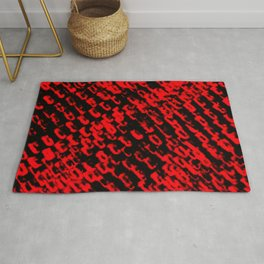 Red sublime metal pattern Rug